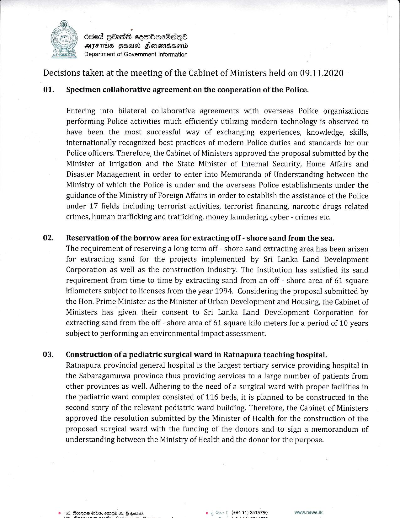 Cabinet Decision on 09.11.2020 English 1 page 001