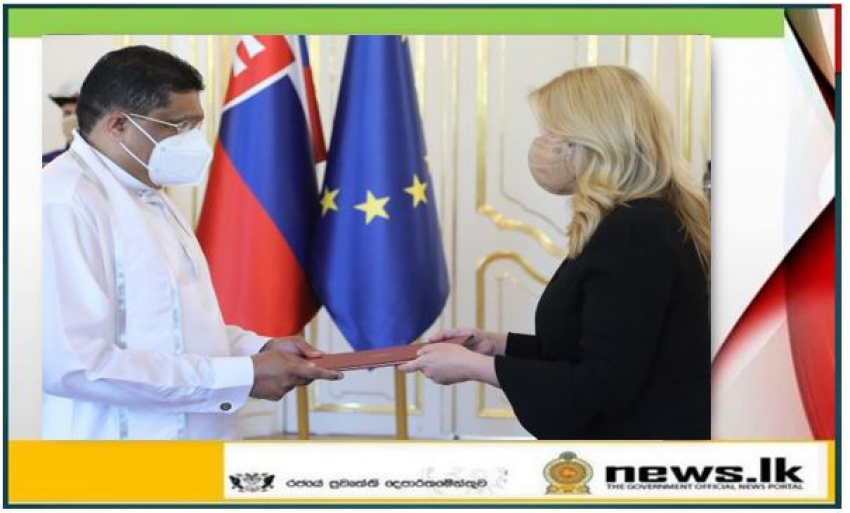 Ambassador Majintha Jayesinghe presented Letters of Credence in Slovakia