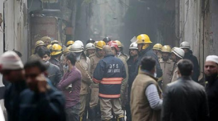 43 Dead In Fire At Luggage Factory in Delhi