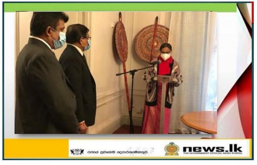 Ambassador- designate of Sri Lanka to French Republic and Permanent Delegation of UNESCO assumed duties
