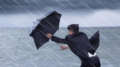 Strong winds and rain