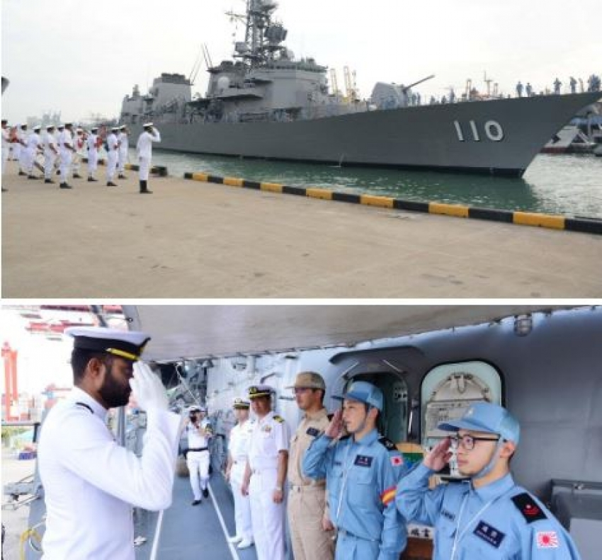 Japanese Maritime Self Defence Force ship 'Takanami' arrives at port of Colombo