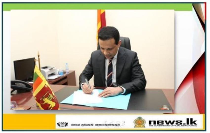 Ambassador – designate of Sri Lanka to Qatar Mafaz Mohideen assumes duties in Doha