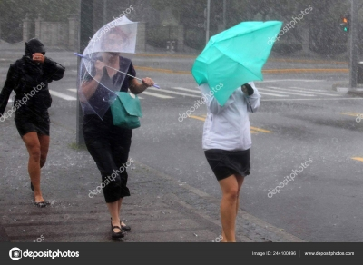 Heavy rain in south and strong winds in north