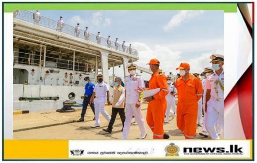 Commander of the Navy appreciates contribution of ICGS 'Samudra Prahari', 'Vajra' and 'Vaibhav'