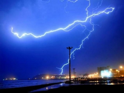 High possibility for evening thundershowers